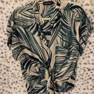 Fab'rik Tie Front Blouse